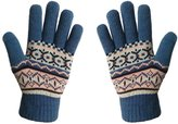 LETHMIK Women's Colorful Thick Knit Gloves Warm Winter Wool Lined