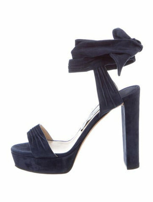 Jimmy Choo Suede Sandals Blue