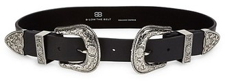 B-Low the Belt Bri Bri Double Buckle Leather Belt