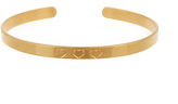 AURÉLIE BIDERMANN FINE JEWELLERY Heart-engraved yellow-gold plated cuff