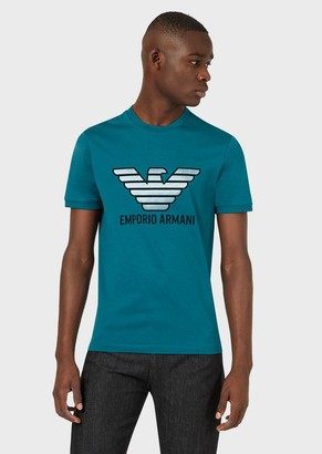 Emporio Armani T-Shirt In Mercerised Cotton With Logo