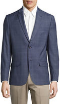 Tommy Hilfiger Trim Fit Windowpane Stretch Performance Suit Jacket
