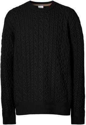 Burberry Cable-Knit Long-Sleeve Jumper