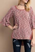 Easel Bell Sleeve Tunic