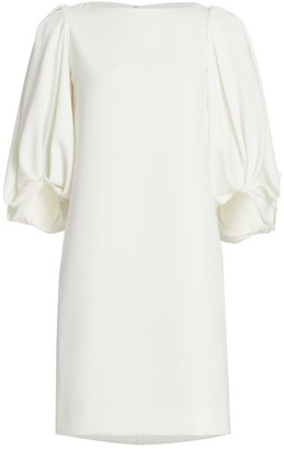 Reem Acra Puff-Sleeve Cocktail Dress
