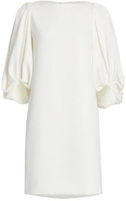 Reem Acra Puff-Sleeve Cocktail Dress