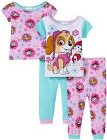 Nickelodeon Flower Skye Cotton 4 Piece Set (Baby) - Pink - 24 Months