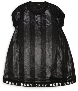 DKNY Mesh Stripes Dress (6-16 Years)