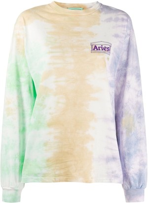 Aries Tie Dye Long Sleeve Sweatshirt