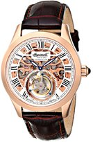 Ingersoll Men's IN5102RG Golden Spike Tourbillon Analog Display Mechanical Hand Wind Brown Watch