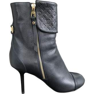 Louis Vuitton \N Blue Leather Ankle boots