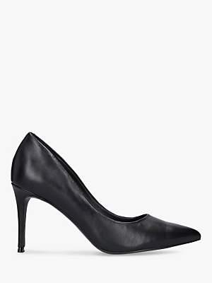 Steve Madden Lillie Stiletto Heel Leather Court Shoes, Black