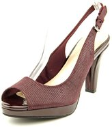 Giani Bernini Womens BENETTE Leather Peep Toe SlingBack