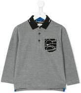 Armani Junior long sleeve polo shirt - kids - Cotton - 4 yrs