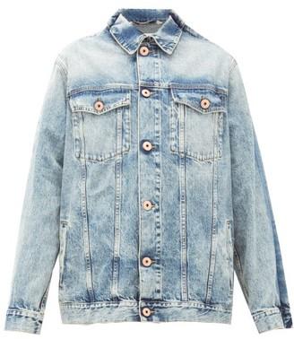 Maison Margiela Pinched-shoulder Washed-denim Jacket - Womens - Denim