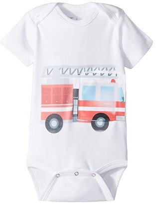 Tubesies Fire Truck G-Tube One-Piece (Infant) (Multi/Fire Truck) Kid's Jumpsuit & Rompers One Piece