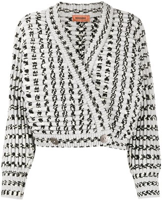 Missoni Knitted Wrap Crop-Top
