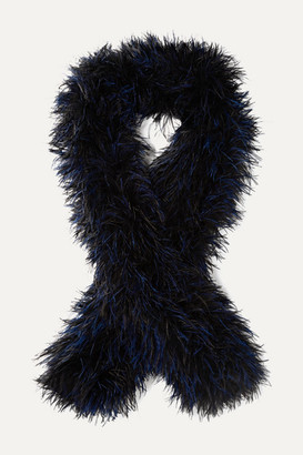 Loewe Oversized Feather Scarf - Black