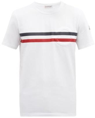 Moncler Tricolour-print Cotton-jersey T-shirt - White