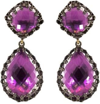 Larkspur & Hawk Magenta Quartz Large Jane Drop Earrings