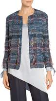 St. John Fil Coupe Water Color Placed Knit Jacket