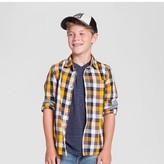 Cat & Jack Boys' Check Long Sleeve Button Down Shirt Cat & Jack - Yellow/Navy