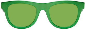 Bottega Veneta Green D-Frame Sunglasses