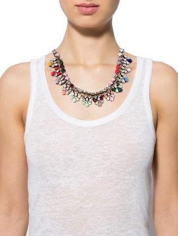 Shourouk Multicolor Crystal Collar Necklace