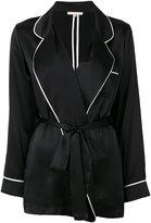 Gold Hawk piped pyjama jacket - women - Silk - XS