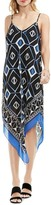 Vince Camuto Graphic Handkerchief Slipdress (Regular & Petite)