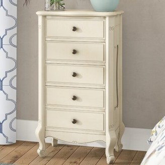 Lacey 5 Drawer Chest Astoria Grand Color: Antique White