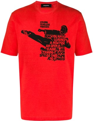 DSQUARED2 Strong Fearless Fighters t-shirt