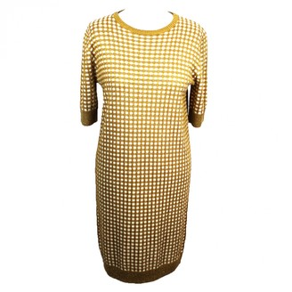 Bella Freud Gold Viscose Dresses