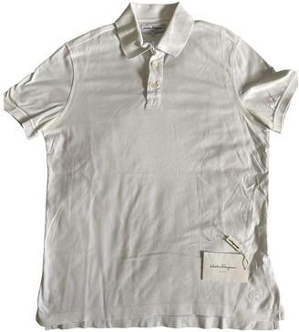 Salvatore Ferragamo White Cotton Polo shirts
