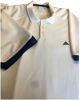 adidas White Polyester Polo shirts