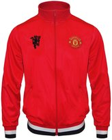 Manchester United F.C. Manchester United FC Official Football Gift Mens Retro Track Jacket Soccer