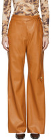 Nanushka Orange Vegan Leather Chino Trousers
