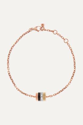 Boucheron Quatre Classique 18-karat Rose, Yellow And White Gold, Pvd And Diamond Bracelet