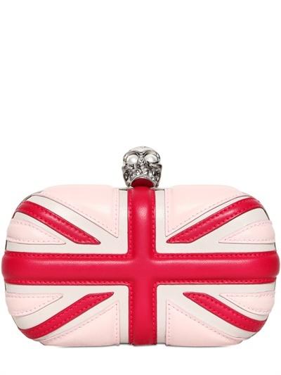 Alexander McQueen Britannia Skull Box Clutch