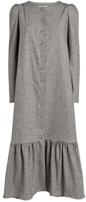 Kika Vargas Buttoned Midi Dress