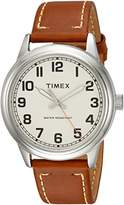 Timex Men's TW2R22700 New England Leather Strap Watch
