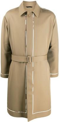 Fendi Single-Breasted Trench Coat