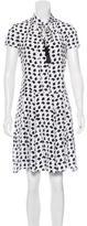 Derek Lam Silk Abstract Print Dress
