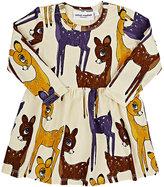 Mini Rodini Deer-Print Dress-PINK