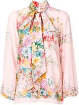 No.21 floral bow tie blouse