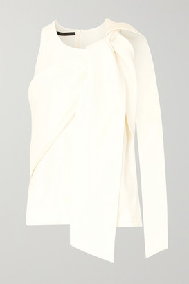 Haider Ackermann Draped Crepe Top - White