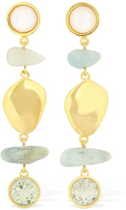 Lizzie Fortunato Blue Cove Pendant Earrings