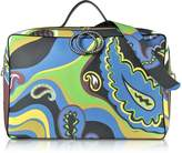 Emilio Pucci Pervinca Optical Print Oversized Top-Handle Bag