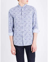 Michael Kors Charles-print Cotton Shirt