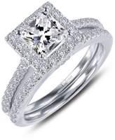 Lafonn Rhonda Faber Green Sterling Silver Platinum Plated Lassire Simulated Diamond Ring (1.81 CTTW)